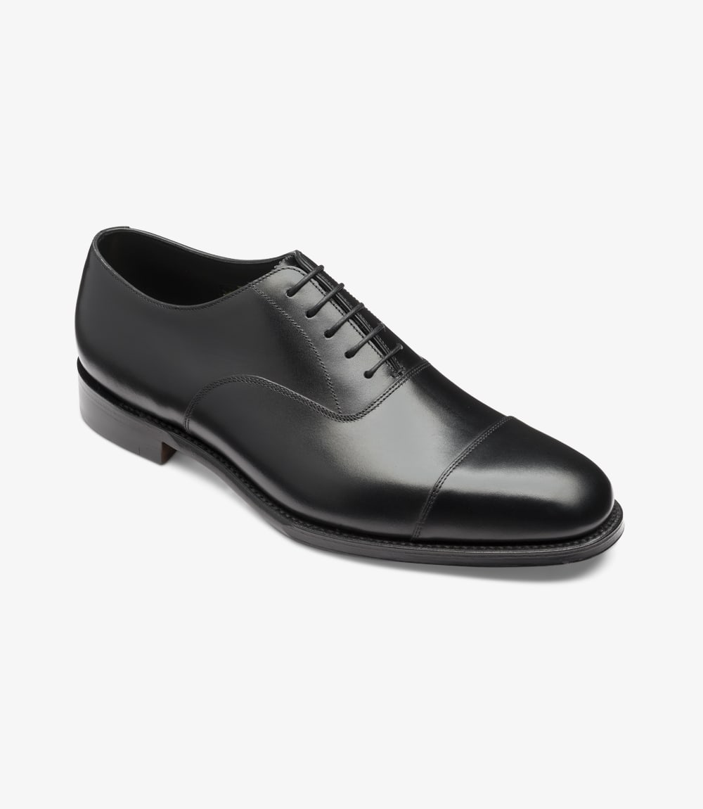 ALDWYCH TOE CAP SHOE BLACK CALF LEATHER