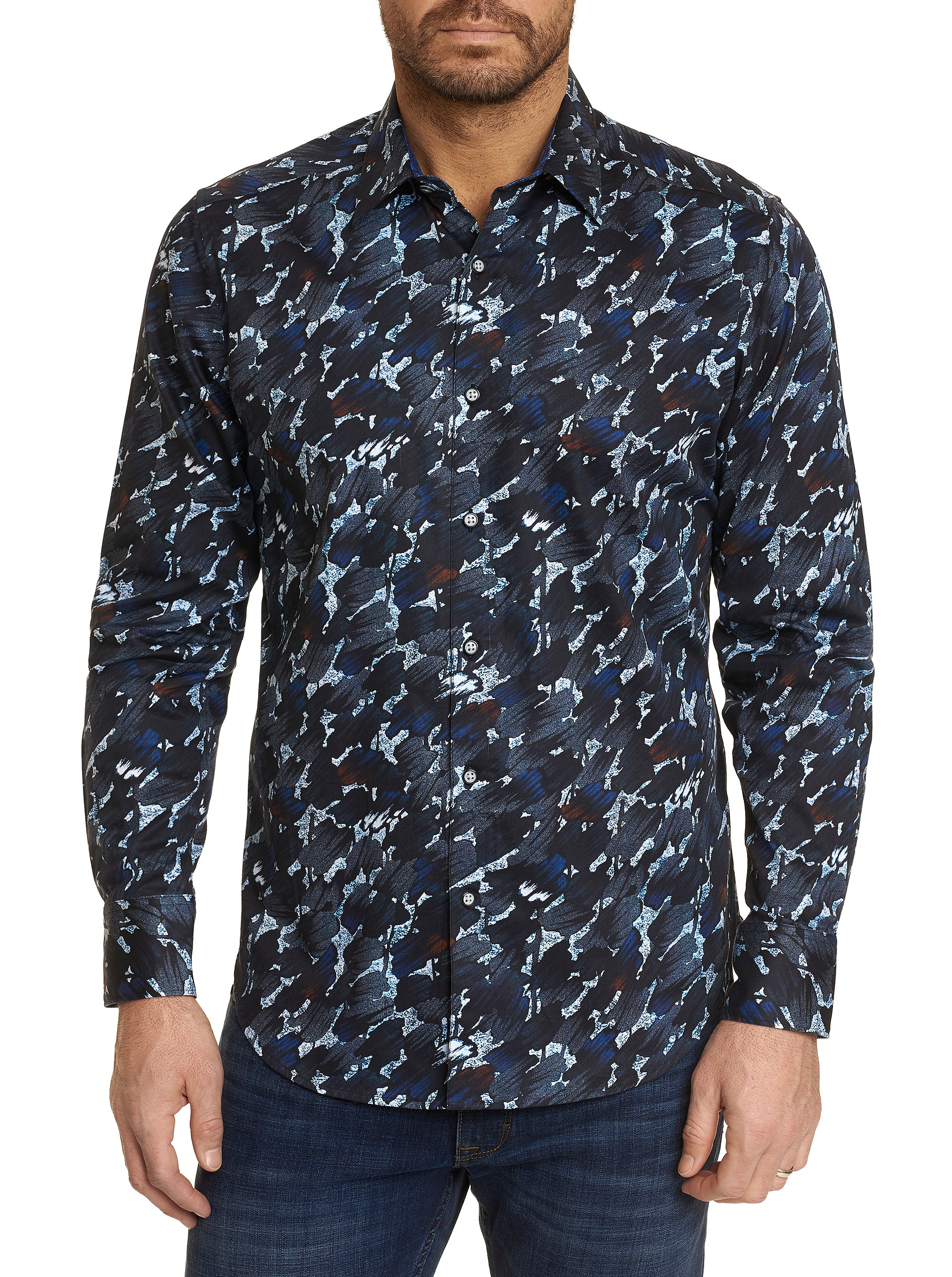 Robert Graham The Amerigo Long Sleeve Shirt RF201078CF Navy