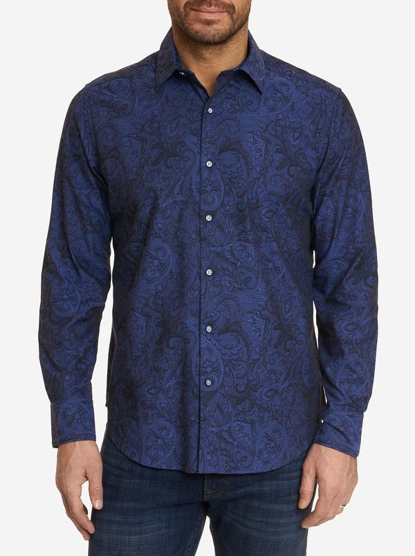 Robert Graham Andretti Long Sleeve Shirt RF201000CF Steel
