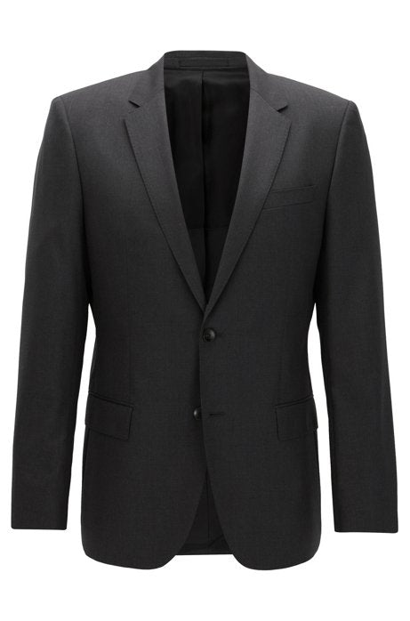 Slim-fit jacket in virgin wool - Grey