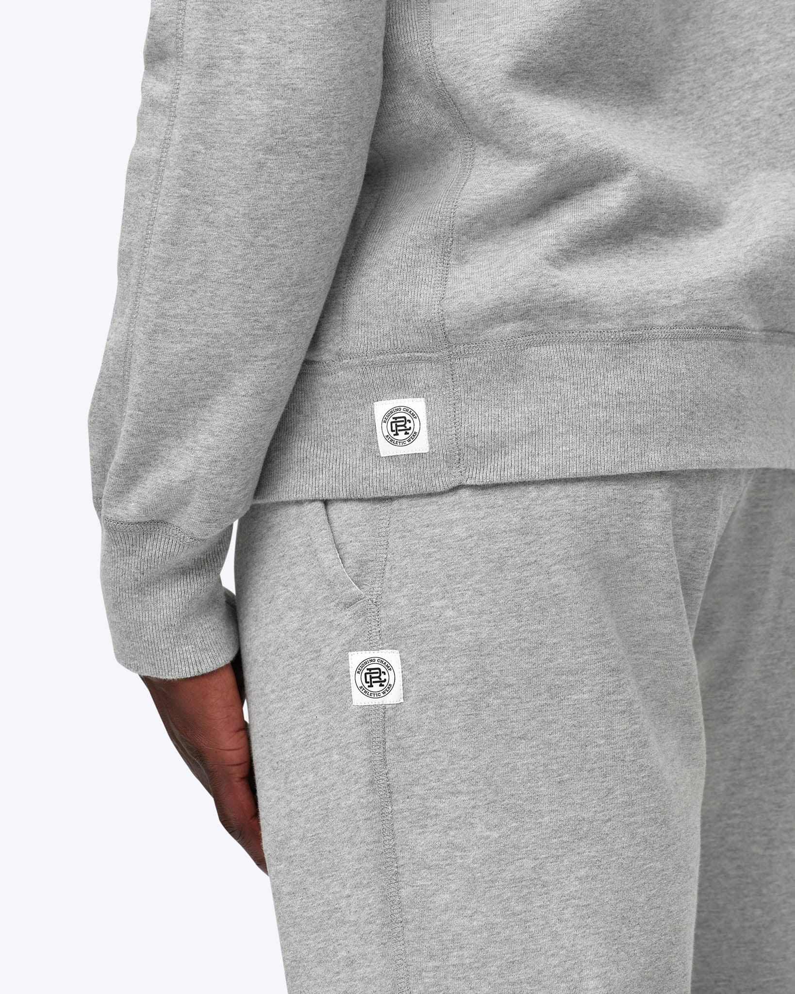 Reigning Champ Midweight Terry Full Zip Hoodie RC-3205 Grey