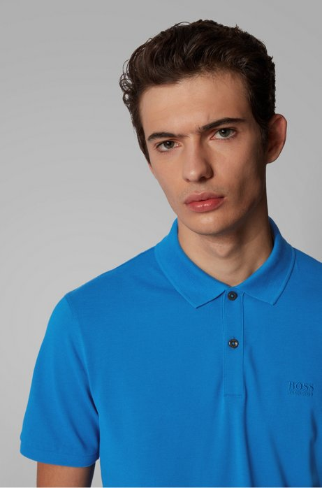Regular-fit polo shirt in Pima-cotton piqué Style Pallas - 50425985 BRIGHT BLUE
