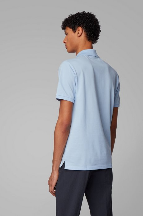 Regular-fit polo shirt in Pima-cotton piqué Style Pallas - 50425985 LIGHT BLUE