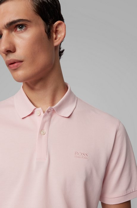 Regular-fit polo shirt in Pima-cotton piqué Style Pallas - 50425985 LIGHT PINK