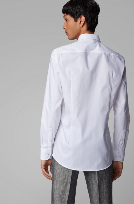 Slim-fit shirt in easy-iron cotton Style Jesse - 50428199 WHITE