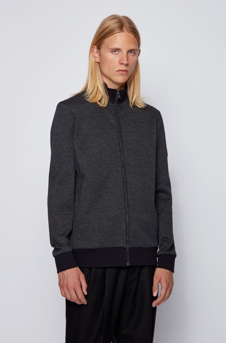 Hugo Boss Shepherd Full Zip Sweater 50437825 Dark Blue