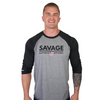 Savage - Black Raglan