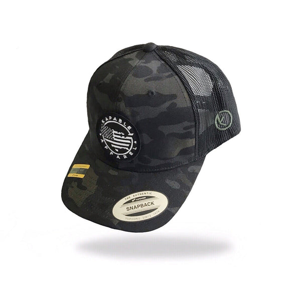 """All American"" 6 Panel Snapback Multicam Black"