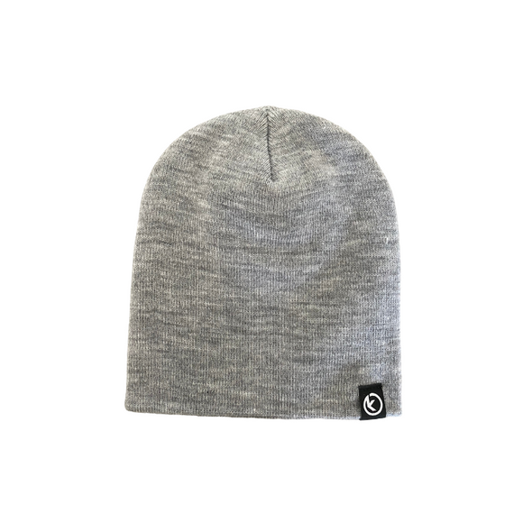 Classic Knit Beanie - Heather Gray