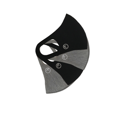 "Kapable Tech Face Mask 4pack ""Black & Heather Gray"""