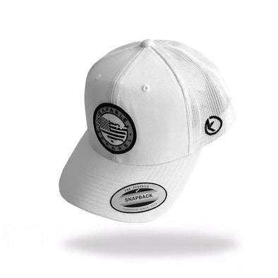 """All American"" 6 Panel Snapback White"