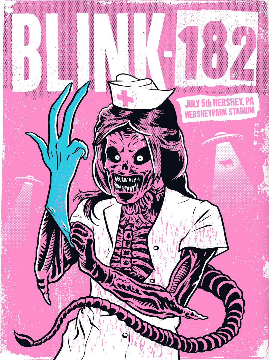 Blink-182 18 x 24 Screenprinted Poster