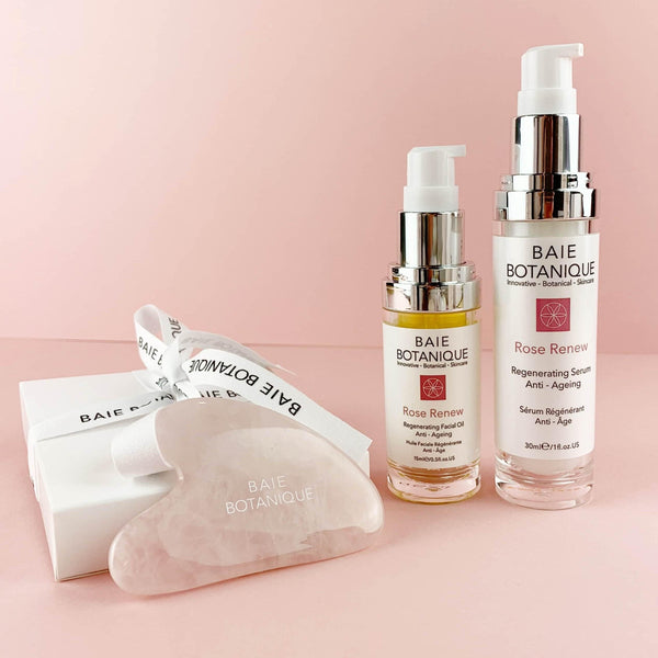 Serum (30ml), Facial Oil, Gua Sha + GIFT BOX BUNDLE