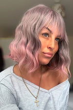 Betsy Wave Lavender Grey to Pink Wig - prettydollpalace
