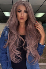 Dreamy Lilac Curly Lace Front Wig - Pretty Doll Palace