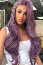 Dreamy Purple Curly Lace Front Wig