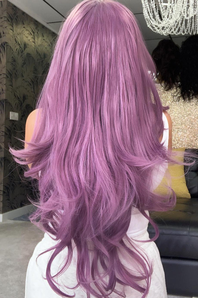 Dreamy Purple Curly Lace Front Wig - Pretty Doll Palace