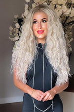 Enya Blonde Wavy Long Lace Front Wig - prettydollpalace