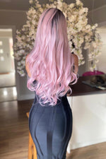 Candy Pink Lace Front Wig - prettydollpalace