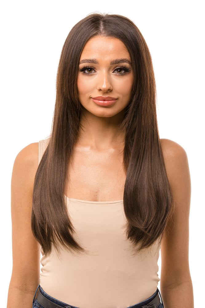 "18"" Three Piece Straight Clip In Hair Extensions - Pretty Doll Palace"