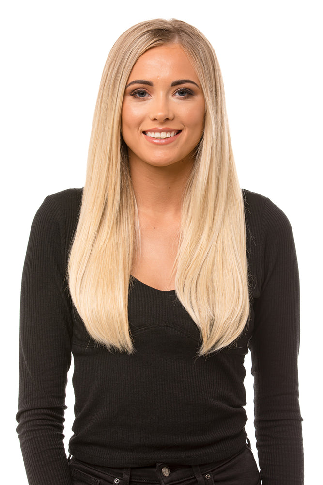 "18"" Three Piece Straight Clip In Hair Extensions"