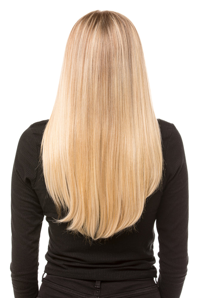 "18"" Three Piece Straight Clip In Hair Extensions - prettydollpalace"