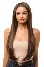 "24"" Three Piece Straight Clip In Hair Extensions"