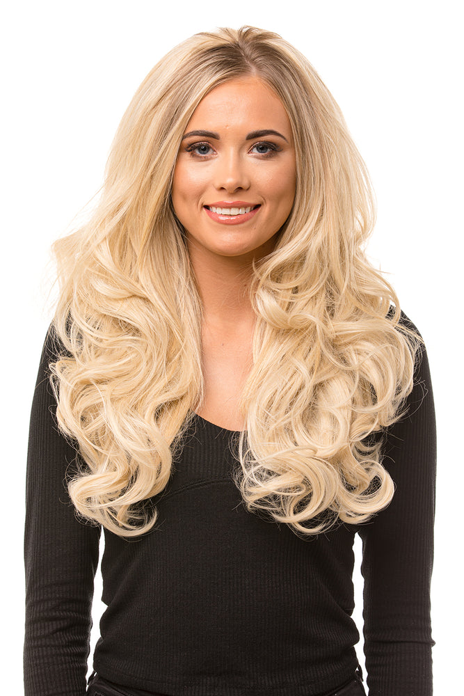 "Leoni 24"" Reversible Half Head Curly Hair Piece"