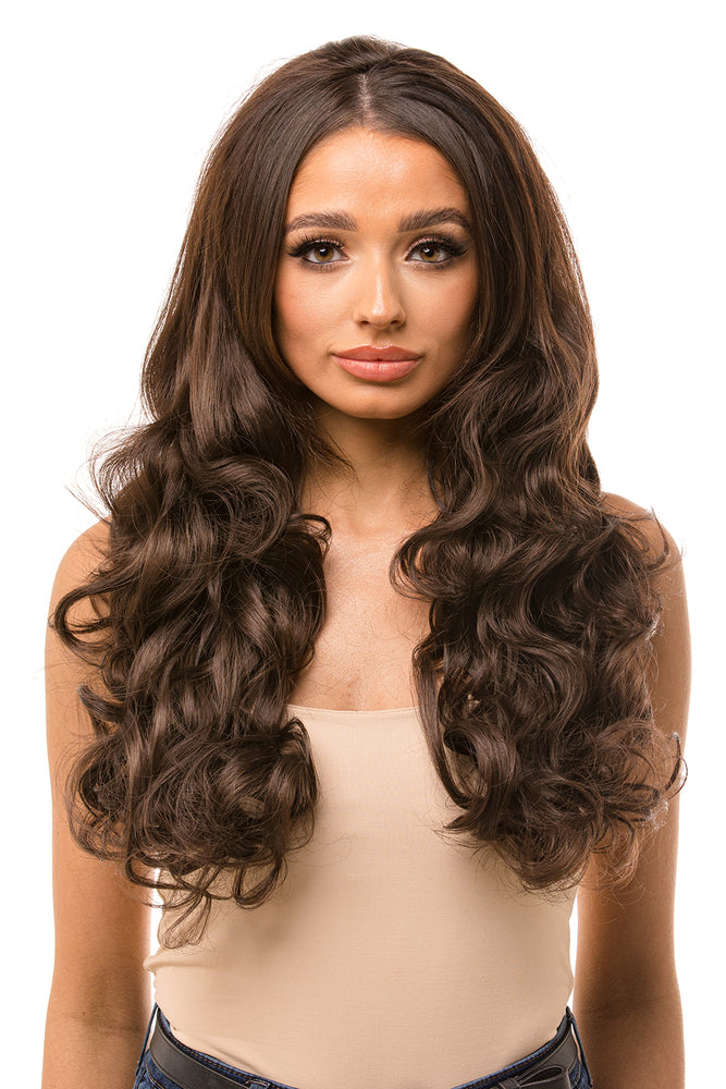 "Lexus 24"" Loose Curl Half Head Hair Piece - Pretty Doll Palace"