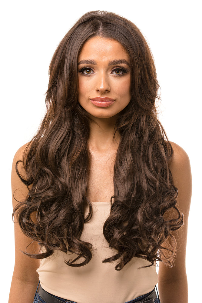 "22"" Three Piece Curly Clip In Hair Extensions"