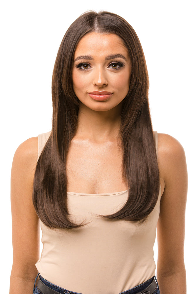 "18"" One Piece Straight Clip In Hair Extensions"