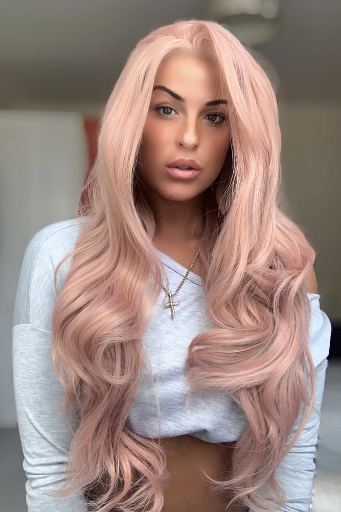 Trinity Pink Lace Front Wig - prettydollpalace