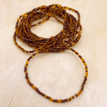 Load image into Gallery viewer, Caramel/Gold 12-Strand Beaded Stacker