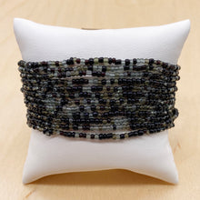 Load image into Gallery viewer, Black/Gray 12-Strand Beaded Stacker