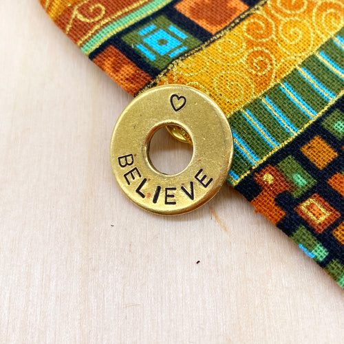 Custom Brass Ring Pin
