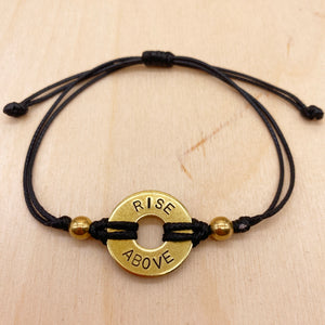 RISE ABOVE - Knotted Brass Ring Bracelet