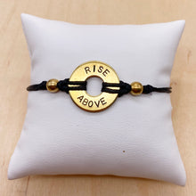 Load image into Gallery viewer, RISE ABOVE - Knotted Brass Ring Bracelet