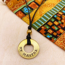 Load image into Gallery viewer, Custom Beaded Brass Ring Necklace