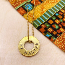 Load image into Gallery viewer, Custom Dainty Brass Ring Necklace