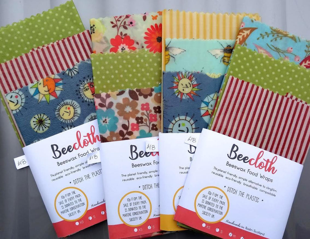 Multi Pack Beeswax Wraps, Beecloth food wraps, eco friendly food storage, plastic free, sustainable kitchen, zero waste gift - Green Earth Shop