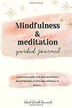 Load image into Gallery viewer, Mindfulness & meditation guided journal PRINT