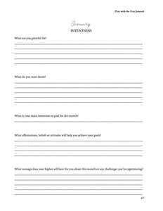 intention setting worksheet