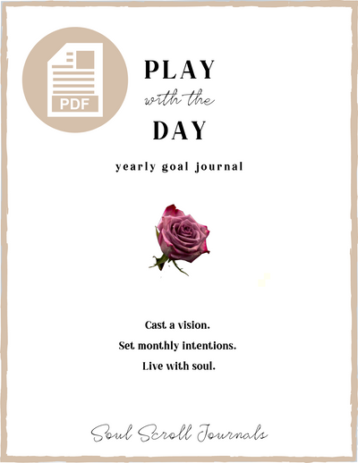 Play with the Day yearly goal journal PDF