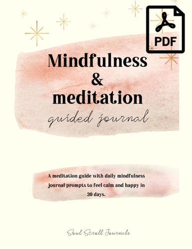 mindfulness and meditation guided journal pdf