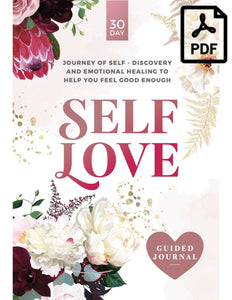 Self-Love guided journal PDF