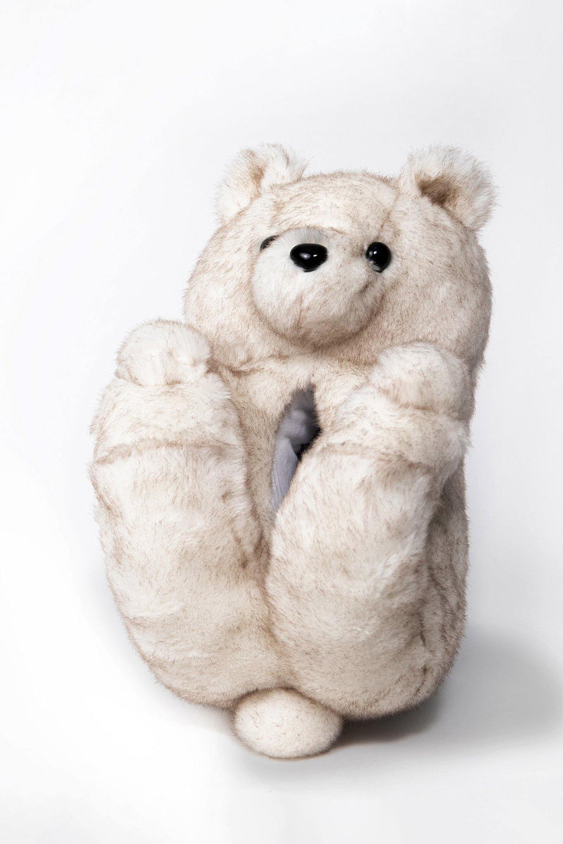 Konterfeit Ashy Arctic Teddy Slippers White Teddy Bear Slipper made in Canada with premium high-end materials