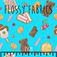 Aussie Snacks - faux leather half metre-Flossy Fabrics