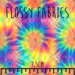 Bright Rainbow Tie Dye - faux leather half metre-Flossy Fabrics