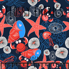 By the Seaside Cotton Canvas-Flossy Fabrics