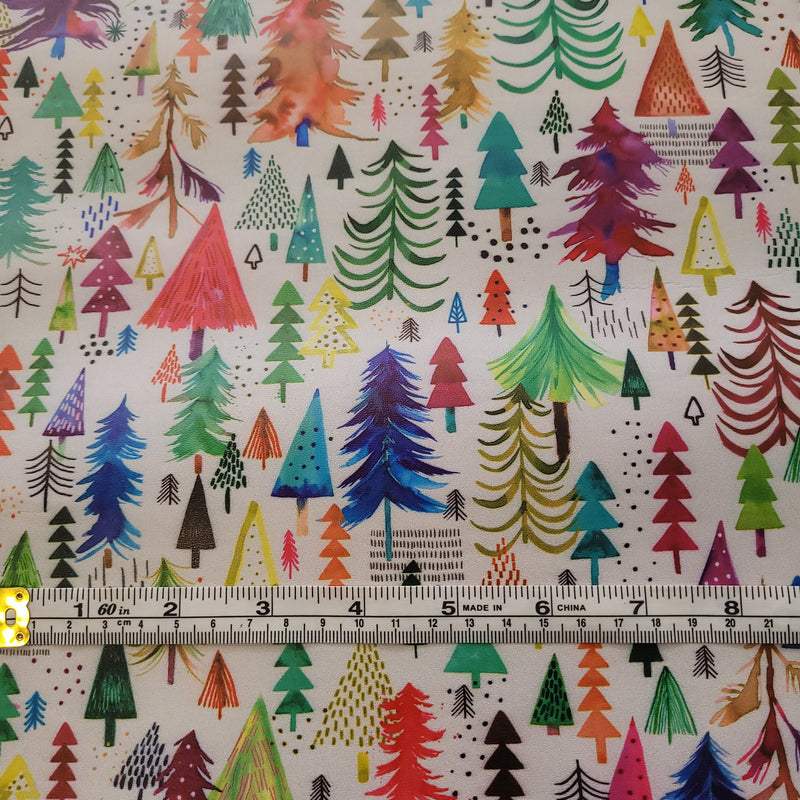 Christmas Pines Light - faux leather A4-Flossy Fabrics
